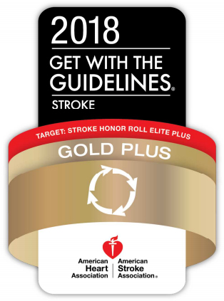American Heart Association Gold Plus Quality Achievement Award badge