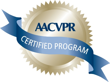American Association of Cardiovascular and Pulmonary Rehabilitation CV Rehab Program Accreditation (AACVPR) badge