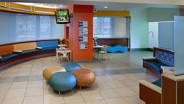 The waiting area at the Makenna David Pediaric Emergency Center.
