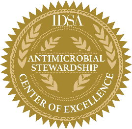 Antimicrobial Stewardship Center of Excellence badge