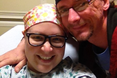 Brandy Smith in the hospital with husband Jason