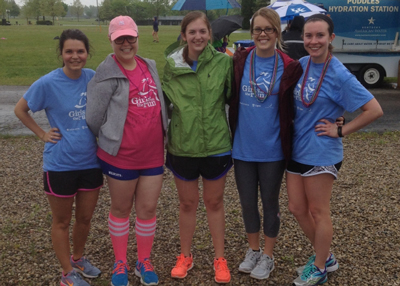 Brandy Smith with members of Girls on the Run