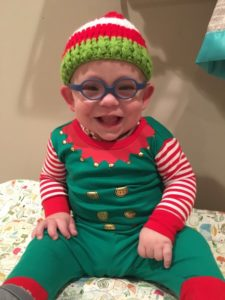 Connor Stacy in his elf outfit