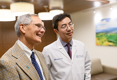 Dr. Charles Lutz, collaborating with his oncologist Dr. Peng Wang