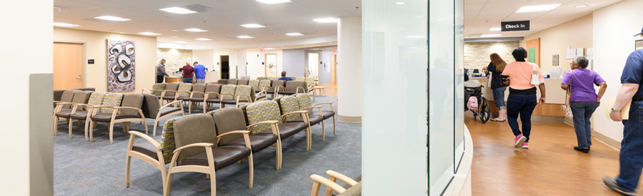 The Orthopaedic Surgery & Sports Medicine waiting room