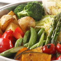 A mixture of healthy vegetables.