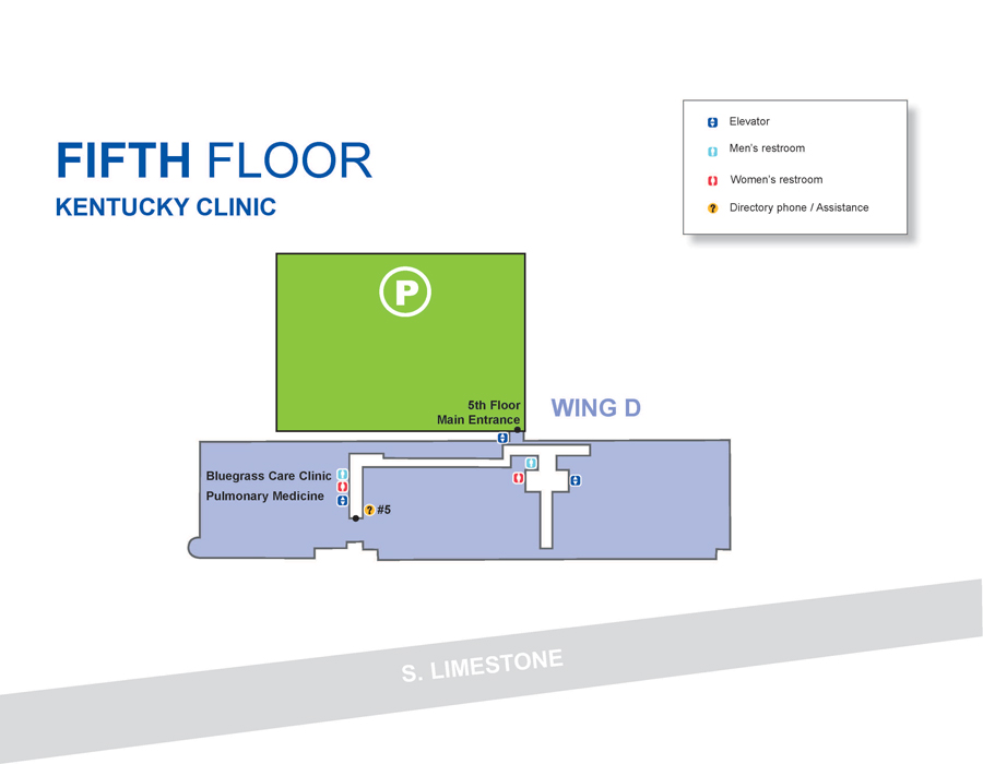 Kentucky Clinic fifth floor map