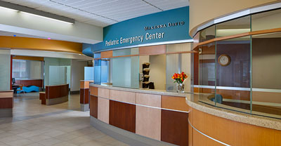 Makenna David Pediatric Emergency Department check-in counter