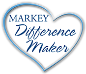 Markey Difference Maker heart-shaped logo