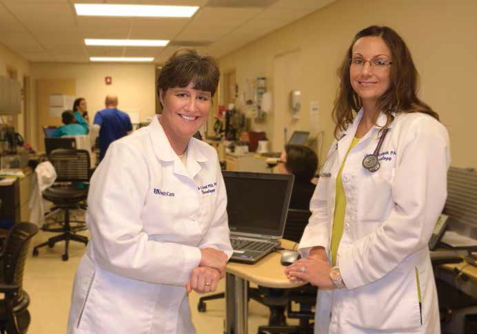 Physician assistants Julie Gurwell and Lindsey Erin-Krompak Noll