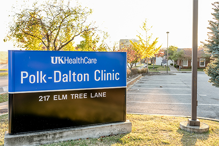 Polk-Dalton Clinic sign