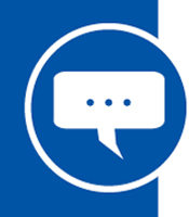 A conceptual illustration of a speech bubble, indicating speaking.