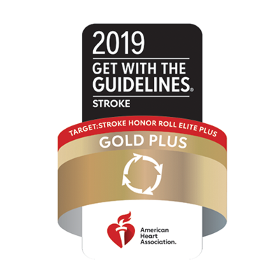American Heart Association 2019 Get with the Guidelines Stroke Gold Plus
