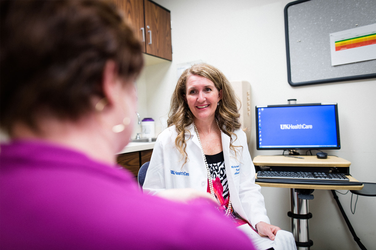 Teresa Schladt meets with Dr. Kristen Stakelin