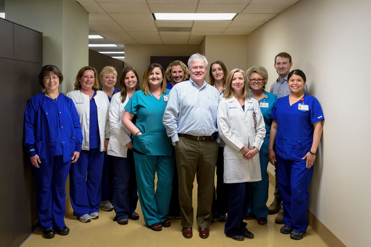Dr. Tom McLarney and his team.
