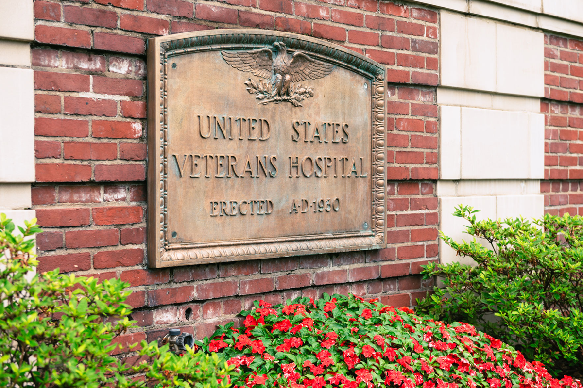 Sign for the United States Veterans Hospital