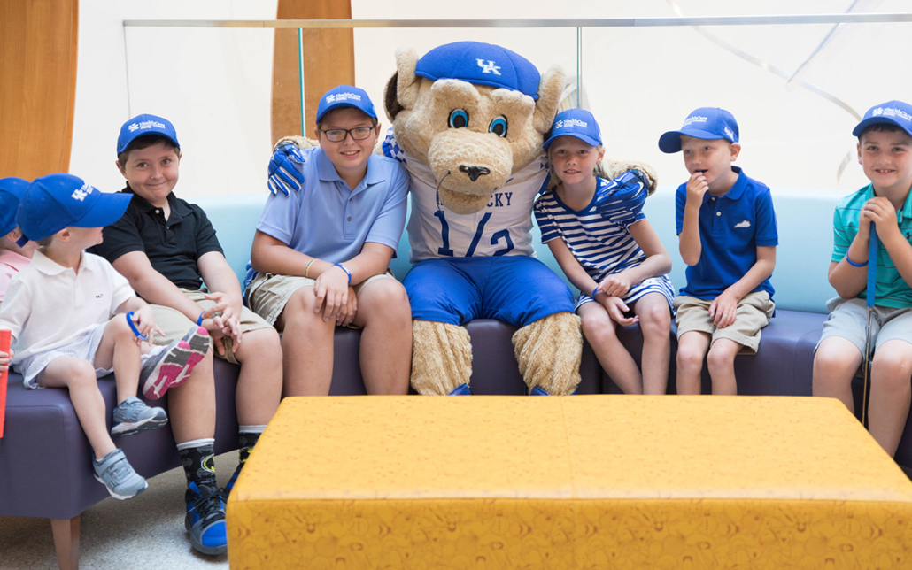 Mascot Scratch with patients